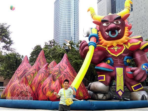 新北市兒童藝術節-童話城堡15-童話巨型裝置-牛魔王與火焰山