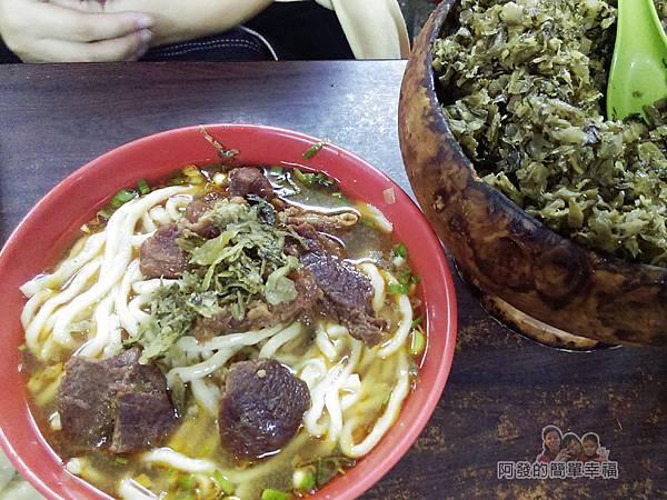 老牌牛肉拉麵大王17-牛肉拉麵(大)與酸菜碗公