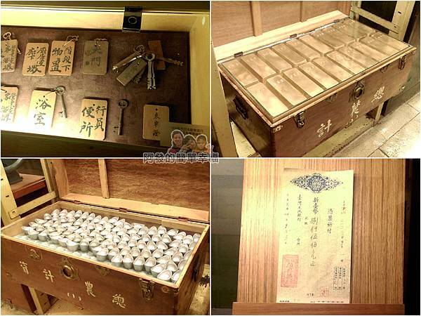台灣博物館土銀館07-鑰匙支票古物與金塊銀元寶示意