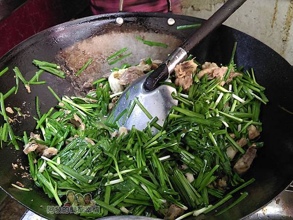 汶水老街-永和亭飯店06-炒菜中-下水炒韭菜