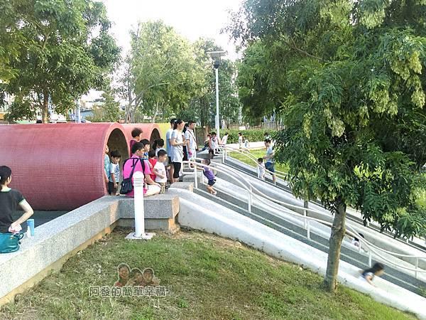 河川教育中心園區21-彩色大水管溜滑梯-上方一景