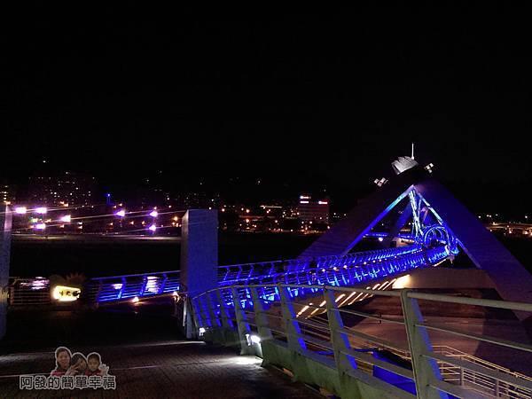 陽光橋-碧潭(夜騎)09-溪園路回陽光橋