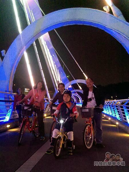 陽光橋-碧潭(夜騎)11-帶子女第一次夜騎