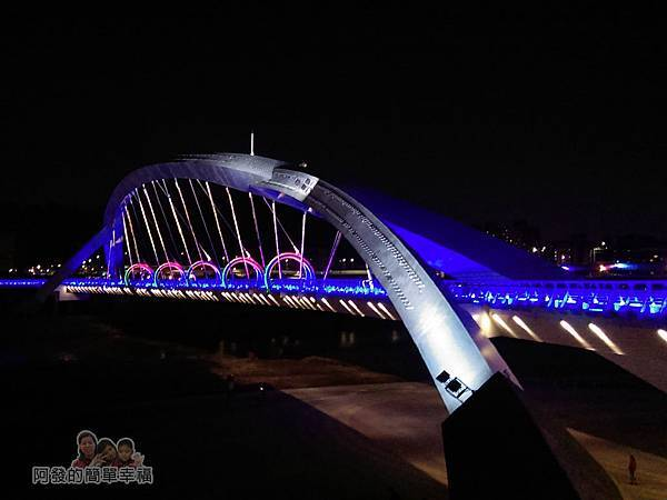 陽光橋-碧潭(夜騎)12-橋身一景