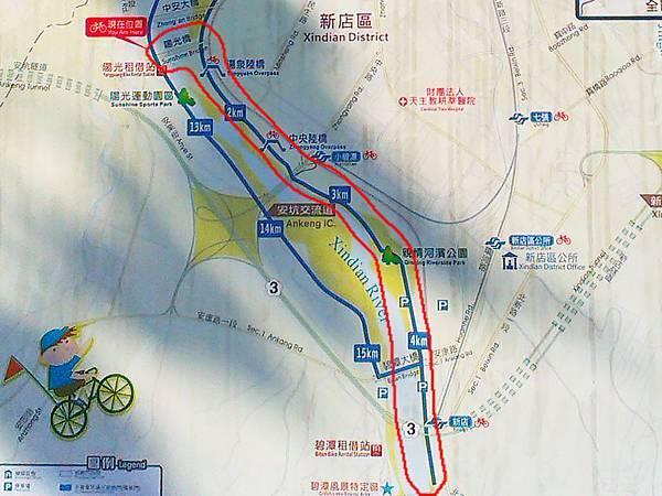 陽光橋-碧潭(夜騎)23-地圖