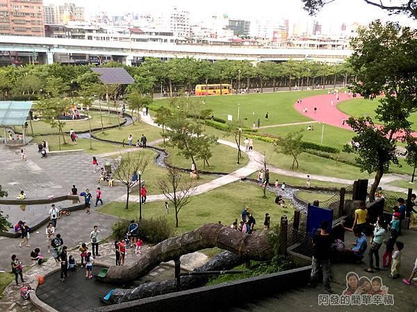 錦和運動公園24-登丘步道上鳥瞰公園一景