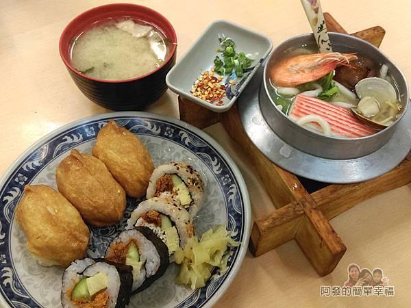 祥壽司06-烏龍麵綜合壽司味增湯