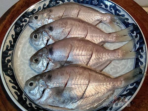 香煎肉魚03-魚身兩側斜切兩刀