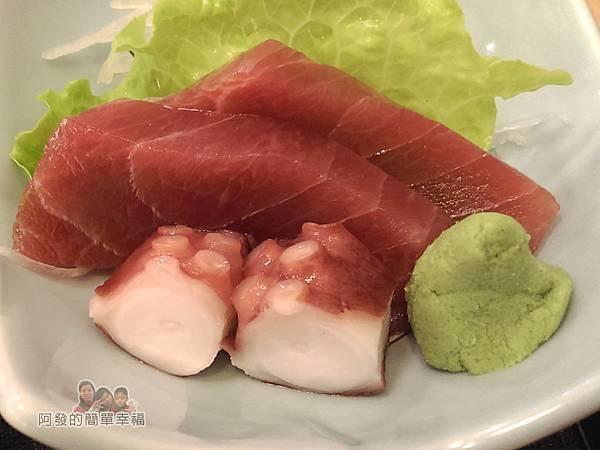 美希屋15-南蠻雞排定食-附上的迷你生魚片