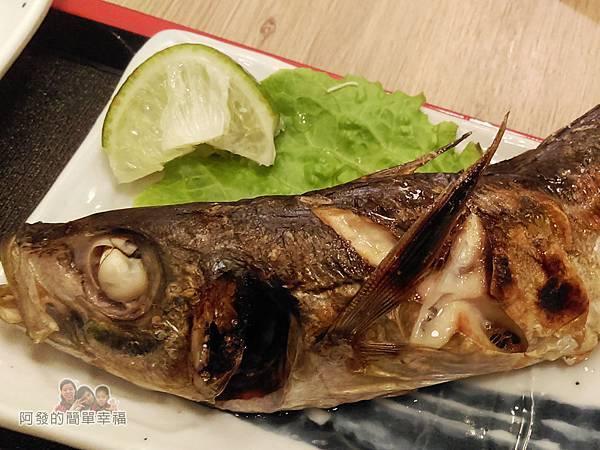 美希屋23-塩烤竹筴魚定食-烤竹筴魚特寫