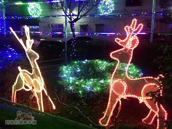 福興里聖誕公園03-平面麋鹿燈飾
