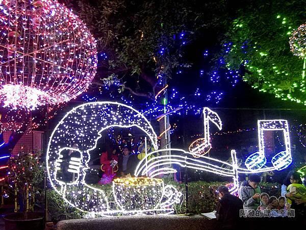 福興里聖誕公園08-公園正面入口處大燈飾
