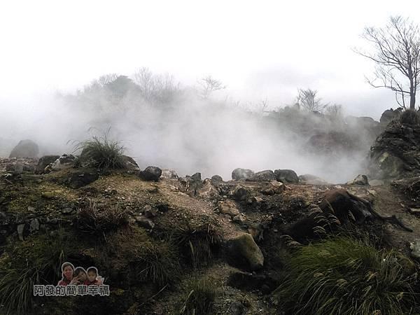 八煙聚落38-火山土壤氣體連續監測站白煙瀰漫