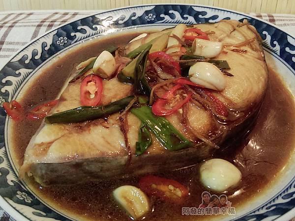 蔥燒土魠魚09-起鍋盛盤完成
