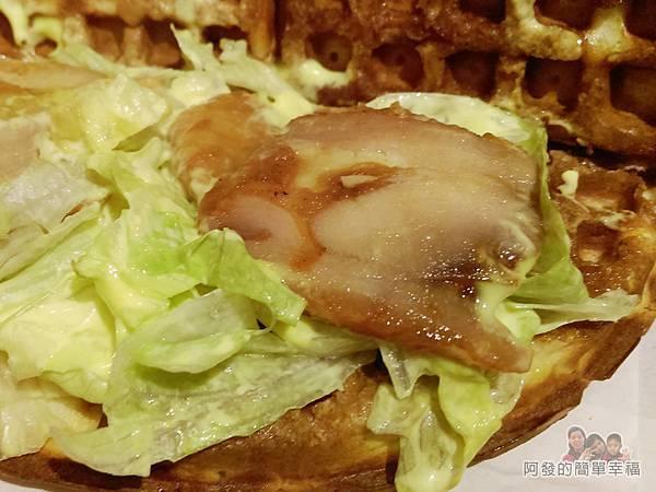 板橋小木屋鬆餅20-德洲烤雞腿蔬菜鬆餅