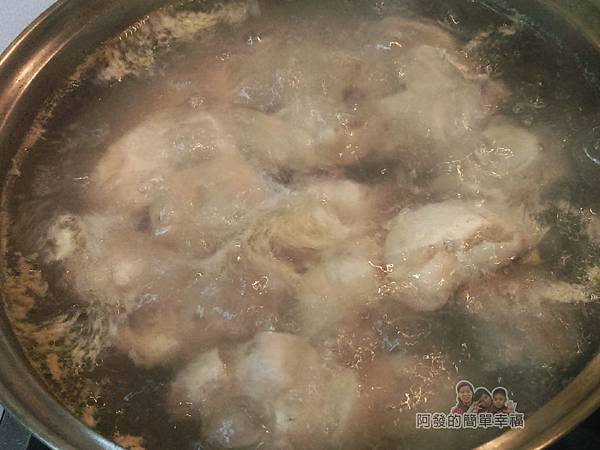 紅棗香菇雞湯06-滾煮雞肉2分鐘