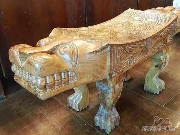 竹北-春上布丁蛋糕09-木雕椅