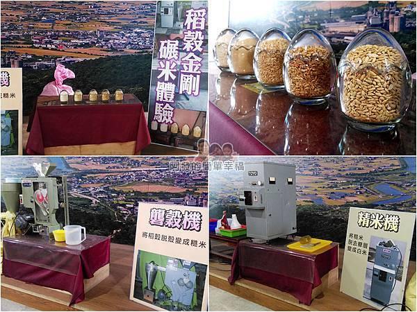 菇菇茶米館11-稻穀金剛碾米樂-稻穀變白米的過程