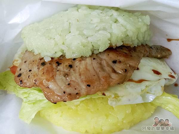 菇菇茶米館36-綠博攤位-五色米漢堡