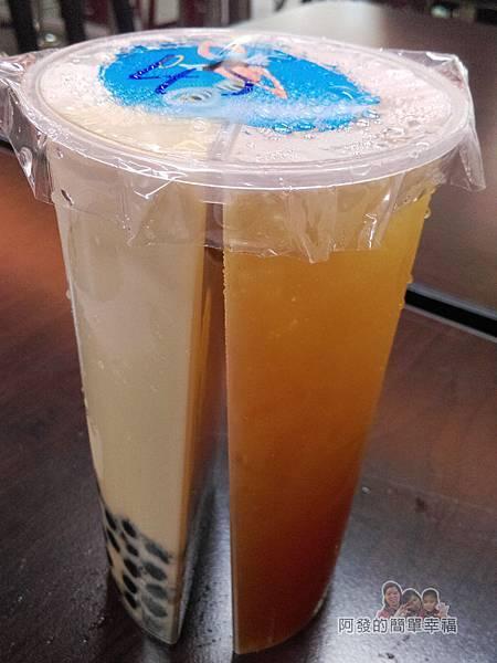 三角舖11-分享杯-珍珠鮮奶茶n檸檬愛玉