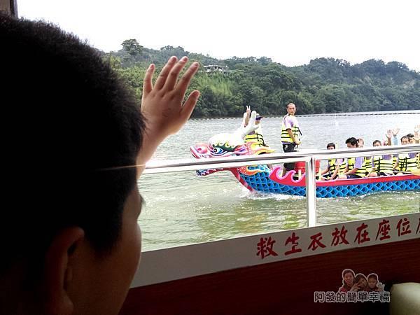 元福小吃店07-明德水庫-乘船遊水庫-巧遇回程的龍舟