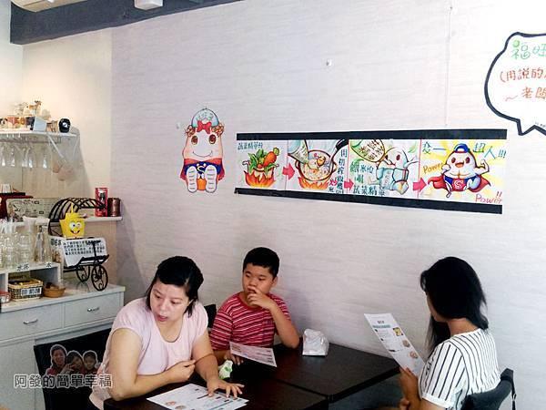 福旺亭04-可愛的手繪人物POP說明