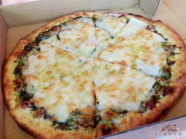 紅鬍子手工窯烤披薩18-蘿勒鮑菇披薩