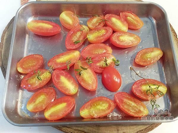 小磨坊廚藝活動25-蔥油風味時蔬-小蕃茄對切送入烤箱