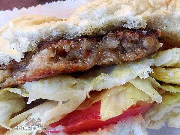 夏威姨早午餐13-招牌漢堡剖面