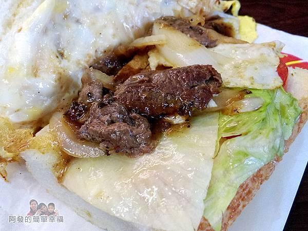 夏威姨早午餐24-鐵板牛肉潛艇堡餡料