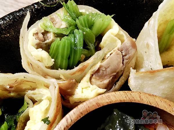 喜悅早餐坊13-鐵鍋蛋餅-菠菜蘑菇