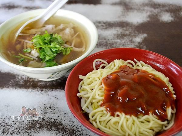 林記香菇赤肉羹07-乾麵與與肉羹湯