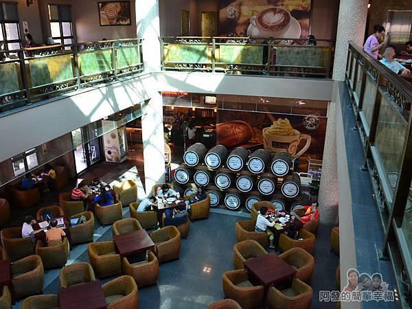 金車伯朗城堡咖啡館24-城堡1館-2樓-鳥瞰1樓
