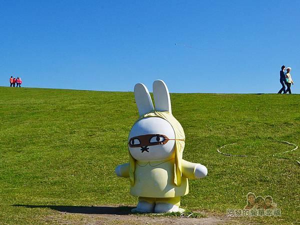八里-十三行文化公園12-(9)熱氣球區與(10)飛翔區-飛行員米飛