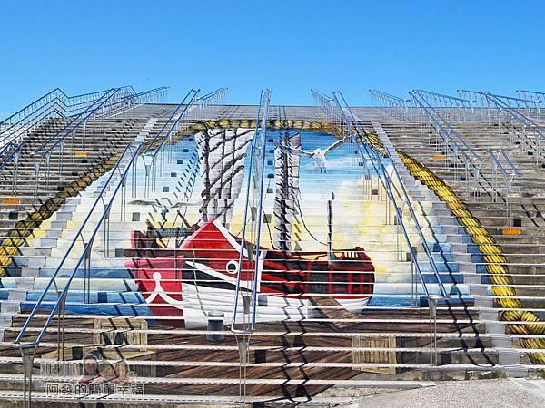 十三行博物館03-階梯上的3D立體繪畫