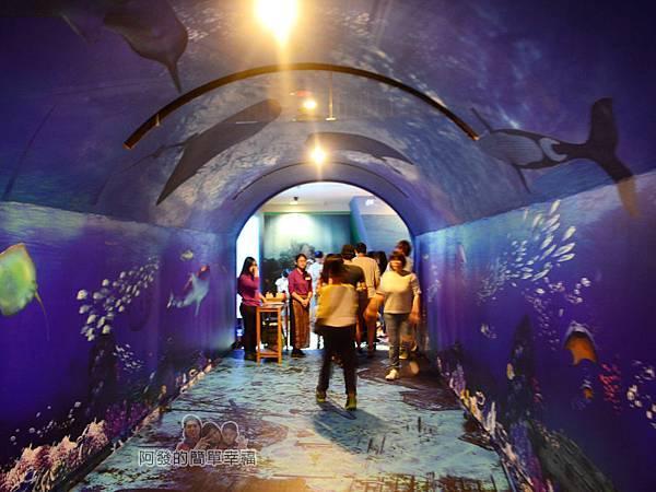 十三行博物館07-海中奧秘特展-有如走入海中隧道