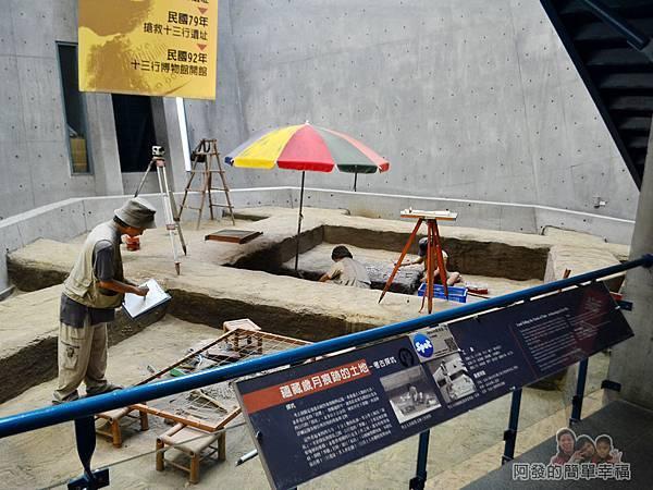 十三行博物館15-考古探坑工作模型