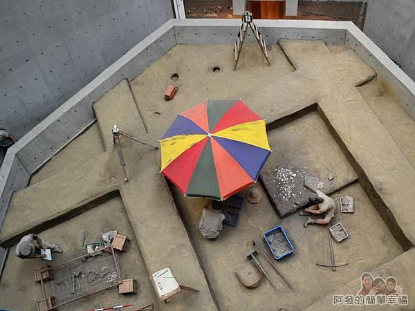 十三行博物館37-鳥瞰2F的考古探坑工作模型