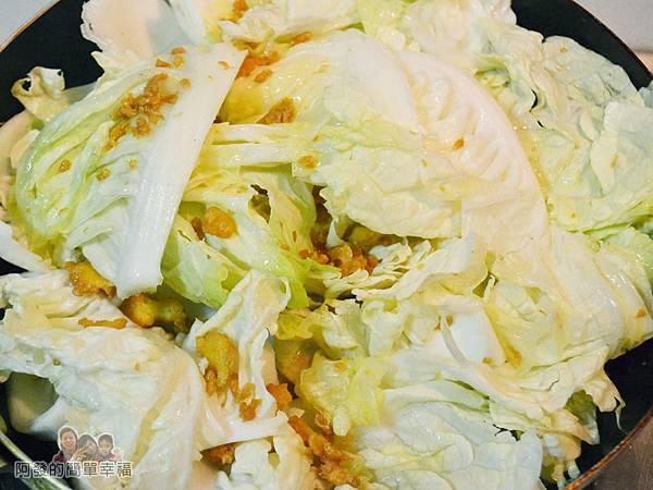 蛋香滷白菜05-下油蛋酥白菜拌炒