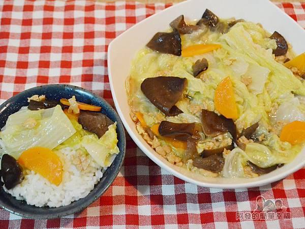 蛋香滷白菜13-搭上白飯
