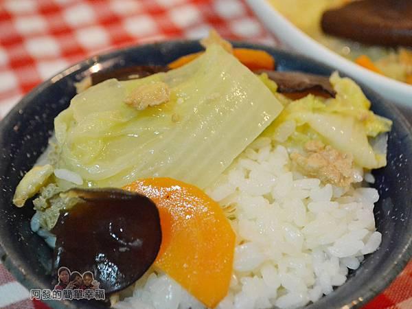 蛋香滷白菜14-搭上白飯特寫