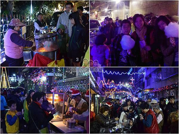 吉慶里聖誕巷07-免費提供棉花糖爆米花紅豆湯