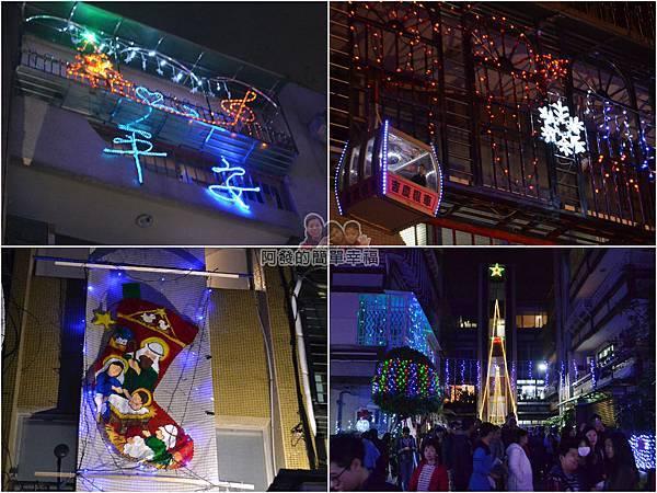 吉慶里聖誕巷11-樓上的燈飾