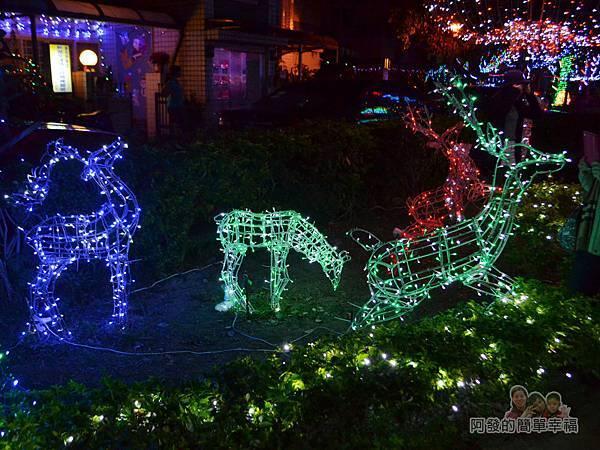 福興里聖誕公園02-立體麋鹿燈飾
