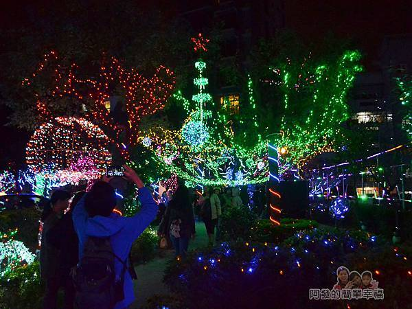 福興里聖誕公園03-公園中心的燈海