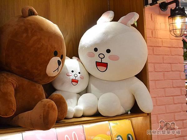 LINE專賣店23-兔兔與熊大絨毛布偶
