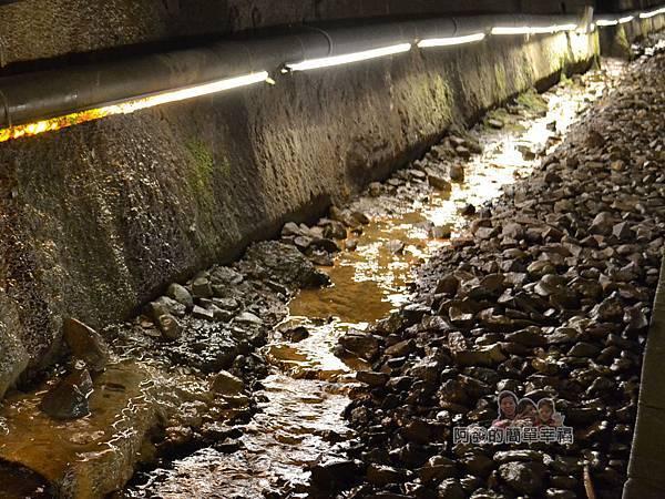 功維敘隧道22-滲入的地下水有如涓涓小溪