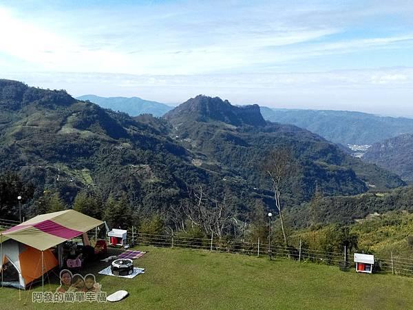 洗水坑李花祕境37-露營區前的翠綠山巒