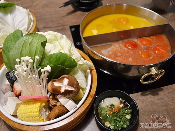 崔官木桶鍋23-菜盤與湯鍋