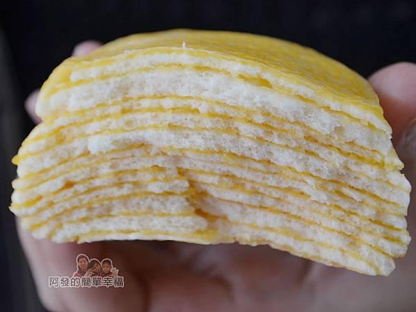老竹子三發包子12-奶黃千層派剖面-看起來不像饅頭
